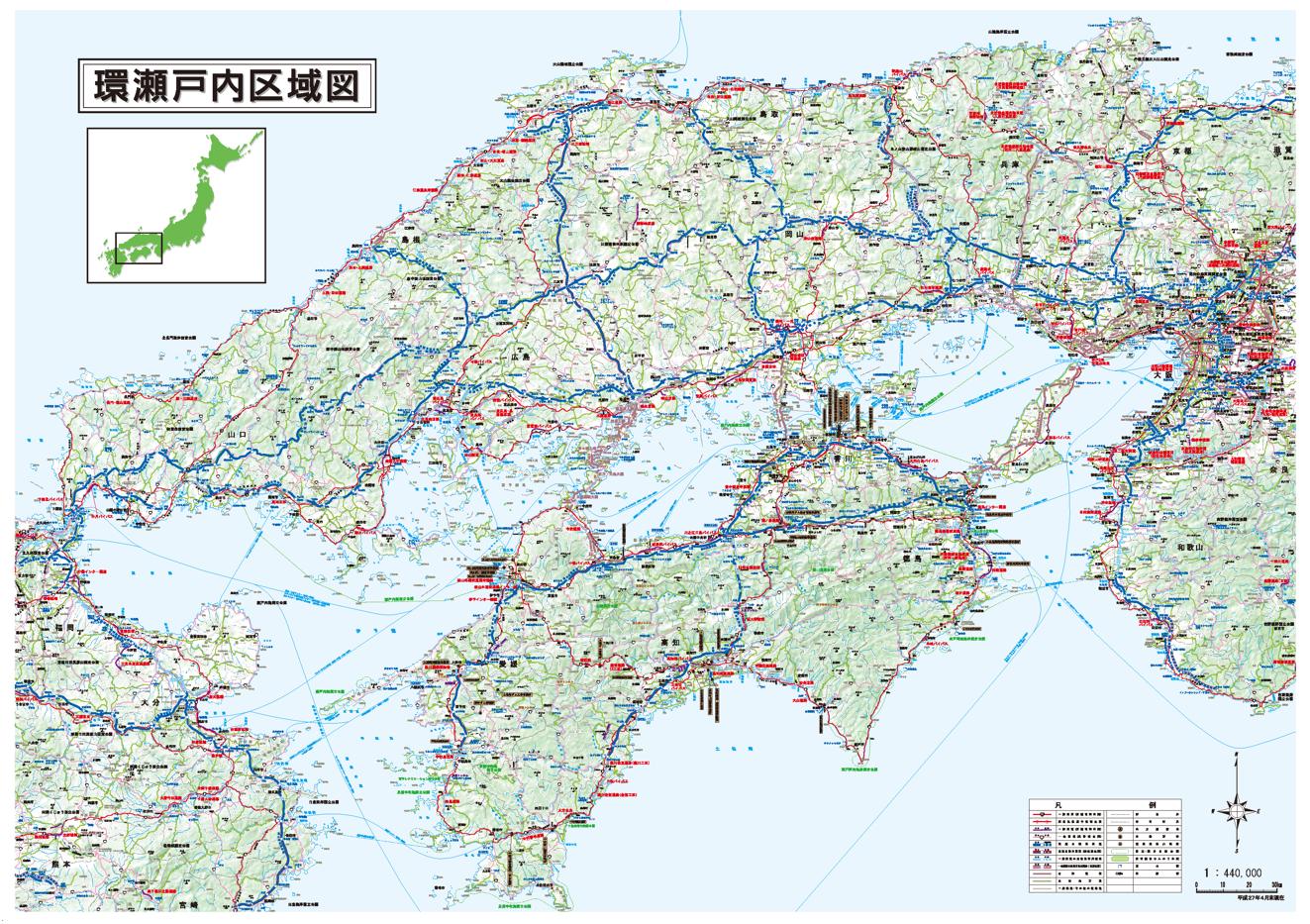 環瀬戸内区域図