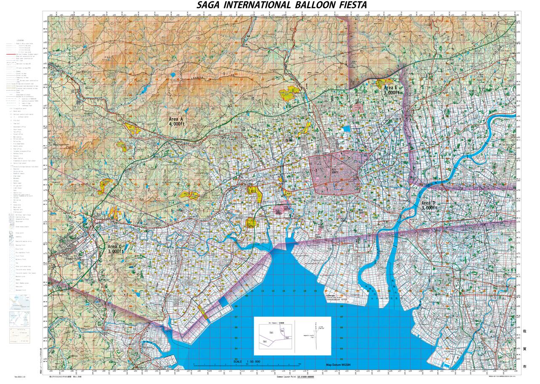 バルーンフェスタ競技用地図