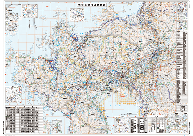 佐賀県管内道路網図